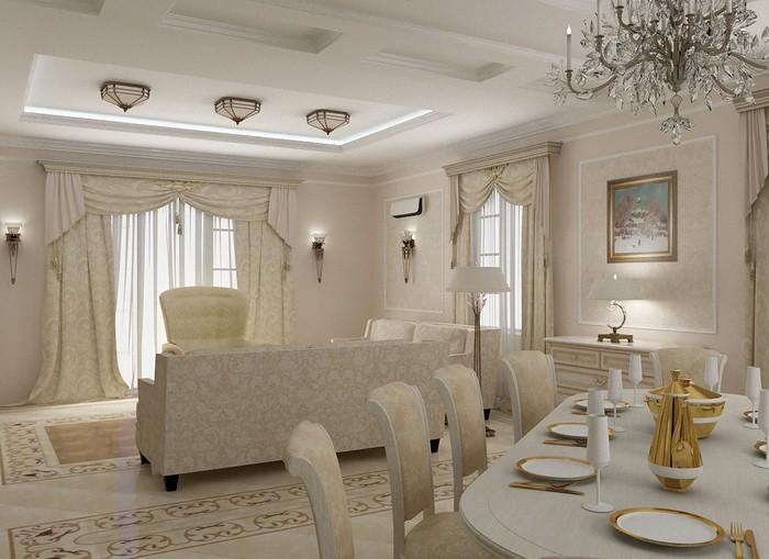 Интерьер гостиной-столовой_12