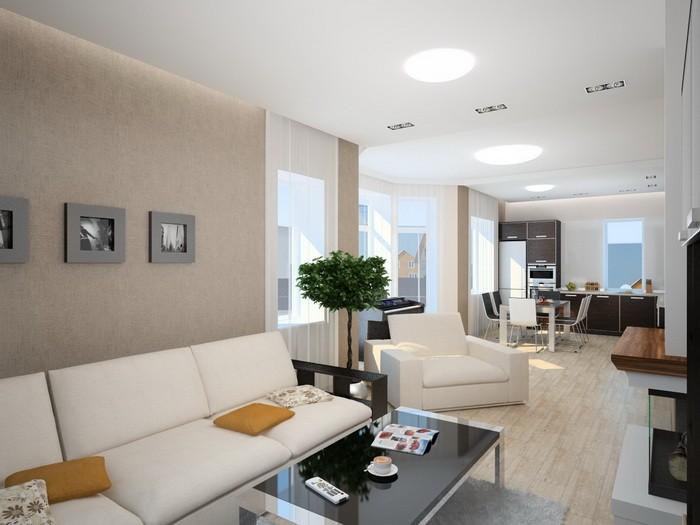 Интерьер гостиной-столовой_13