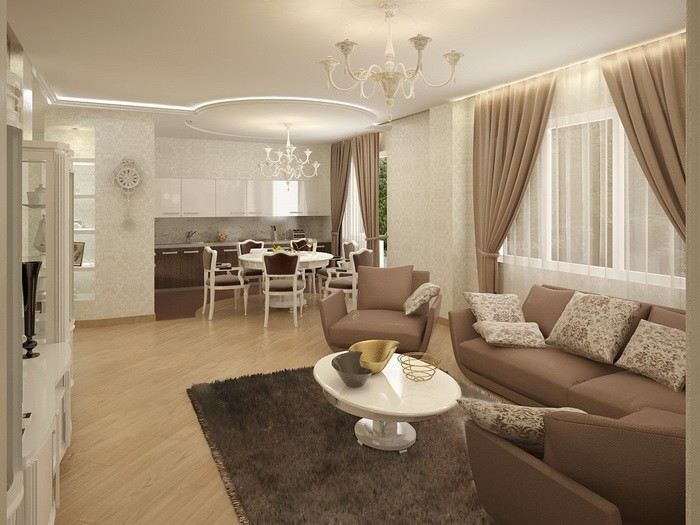 Интерьер гостиной-столовой_16