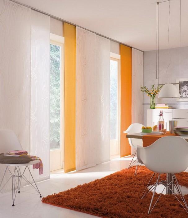 Шторы для комнаты с низкими потолками_11