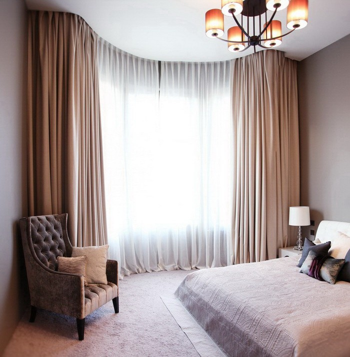 Шторы для комнаты с низкими потолками_16