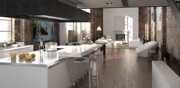 Кухня в стиле лофт_17