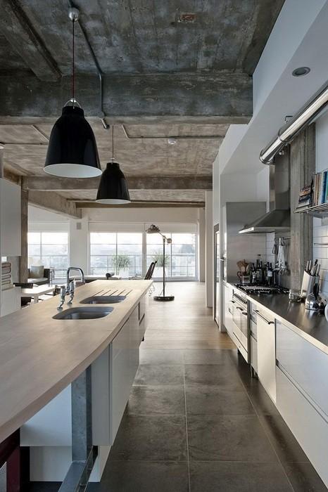 Кухня в стиле лофт_18