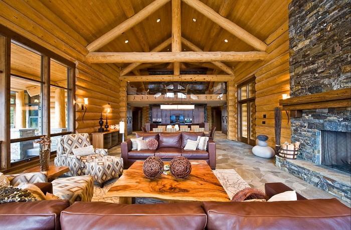 Интерьер деревянного дома_20