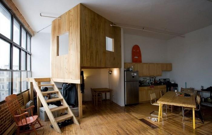 Маленькая Лофт  Лофт в маленькой квартире