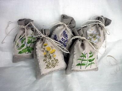 Красивые мешочки для трав