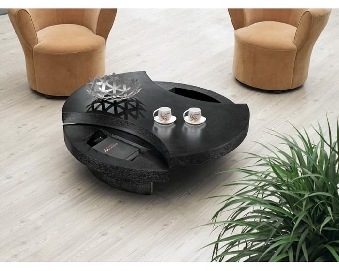 Кофейный столик в интерьере