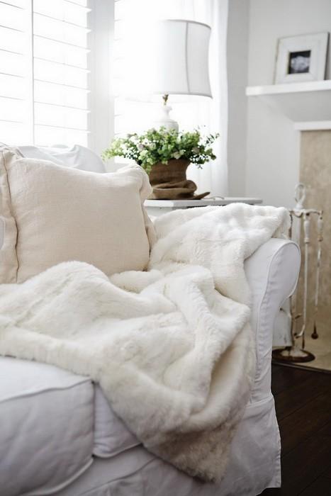Зимний декор интерьера гостиной_03