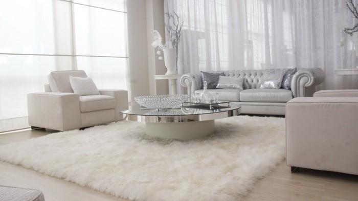 Зимний декор интерьера гостиной_04