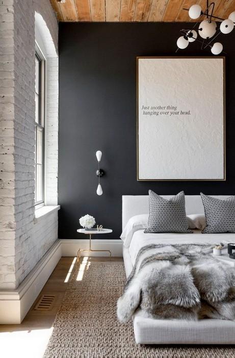 Акцентная стена в интерьере спальни_10