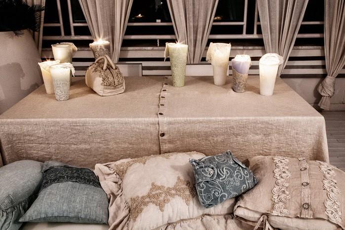 Зимний интерьер гостиной