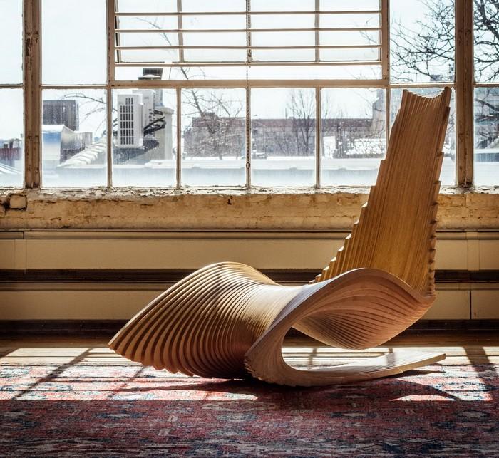 Кресло качалка в интерьере