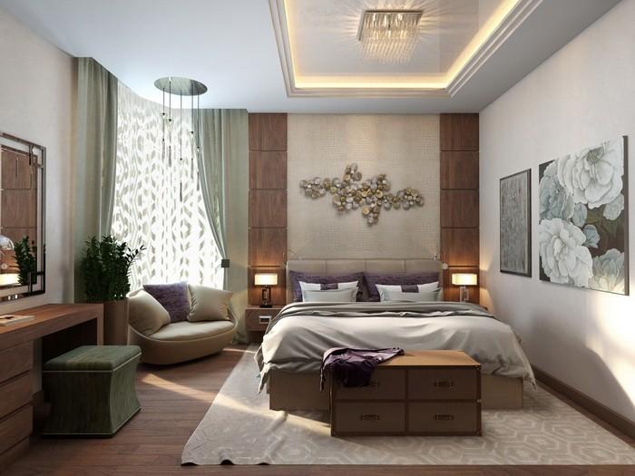 Оформление изножья кровати