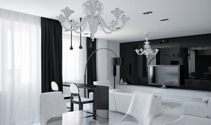 Барная стойка в интерьере гостиной_12