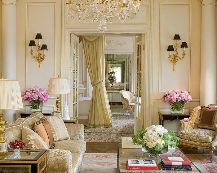 Гостиная во французском стиле_12
