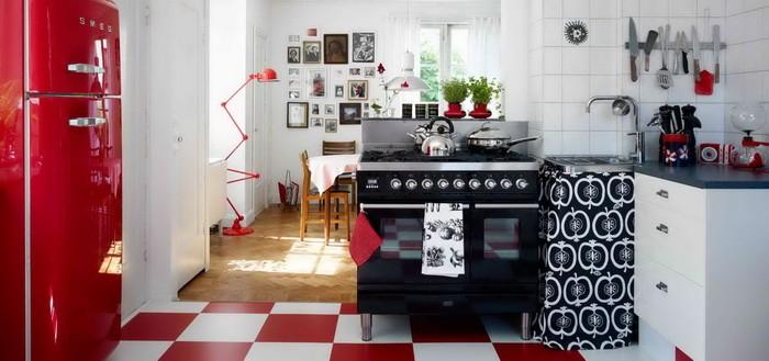 Мебель для кухни в ретро стиле_11