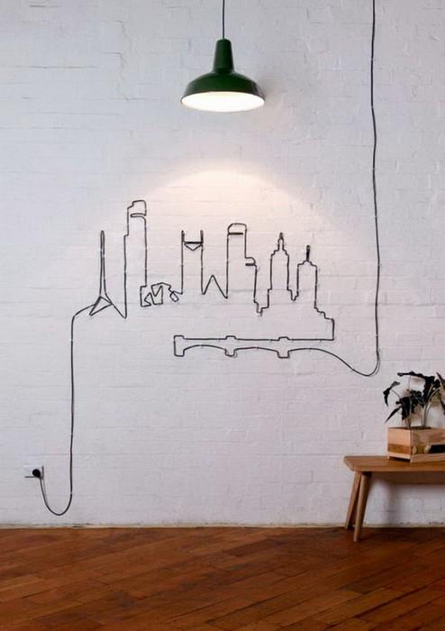 Оформление проводов в интерьере