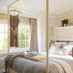 Романтический интерьер спальни для девушки
