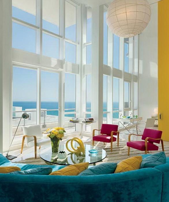 Дизайн интерьера с большими окнами