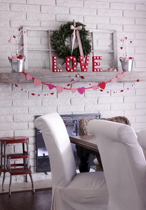 Украшение камина ко дню Святого Валентина_08