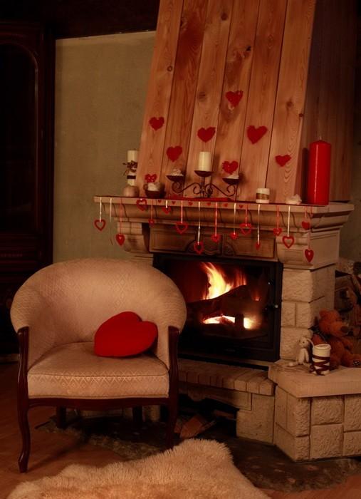 Украшение камина ко дню Святого Валентина_15