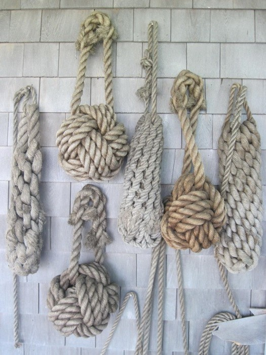 Веревка в дизайне интерьера