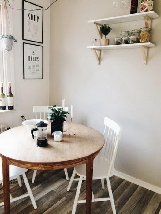 Столовая с круглым столом