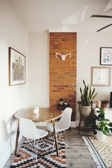 Круглые столы в интерьерах   примеры и фото