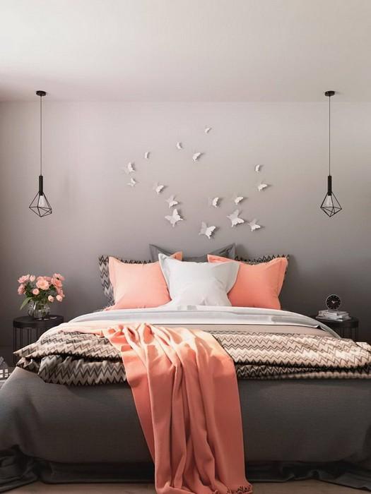 Дизайн спальни в сером цвете_01