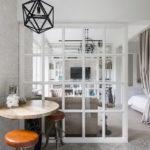 Дизайн квартиры студии в белом цвете