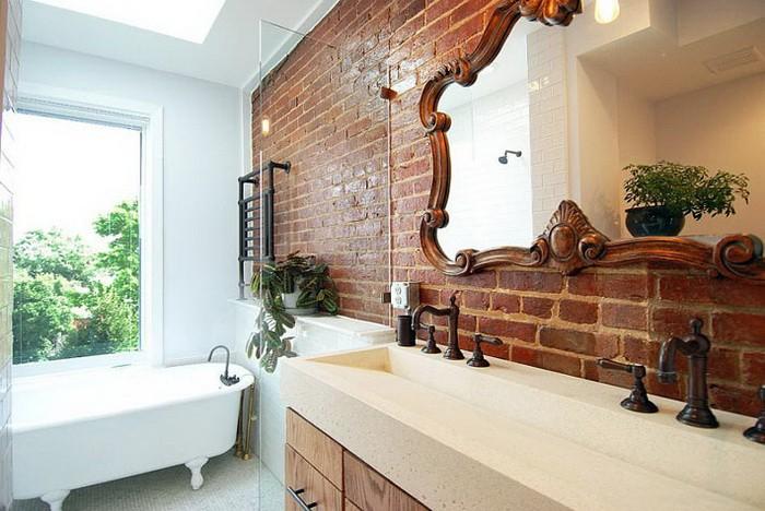 Кирпичная стена в ванной_10