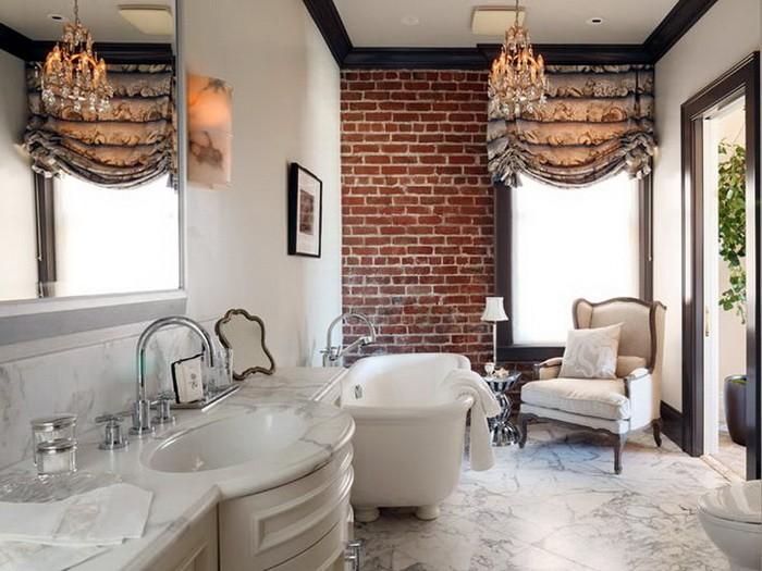 Кирпичная стена в ванной_12
