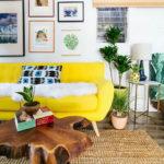 Желтый диван в дизайне интерьера