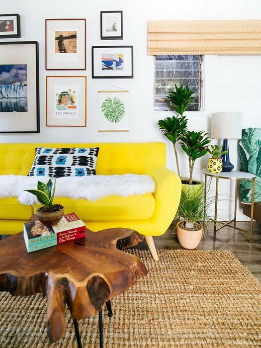 Желтый диван в дизайне интерьера_01