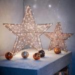 Украшение для интерьера из новогодней гирлянды