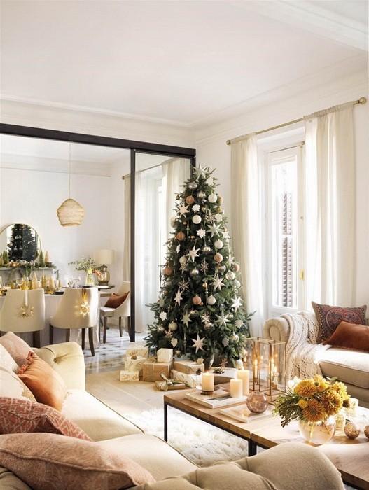 Золотой новогодний декор дома_03