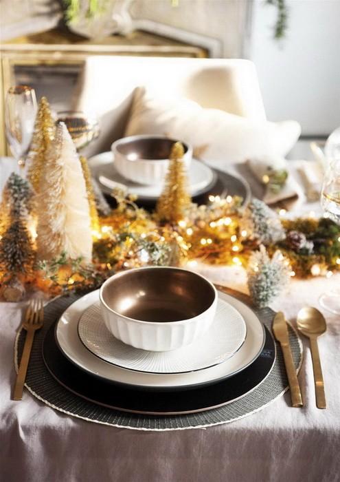 Золотой новогодний декор дома_07