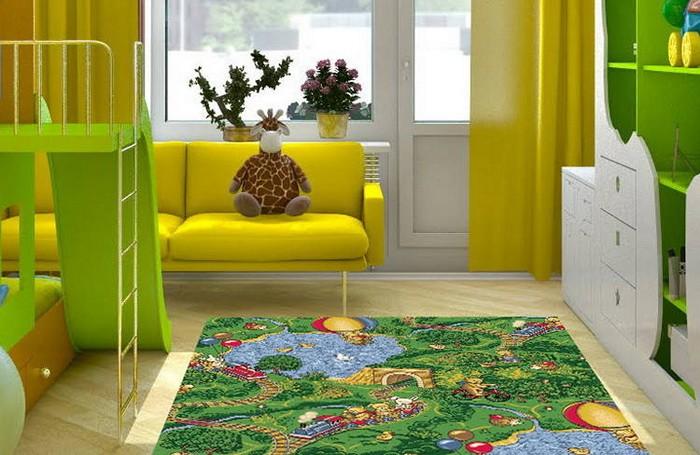Как выбрать ковёр в детскую