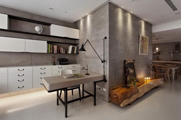 Бетон в декоре интерьера — стильное дизайнерское направление